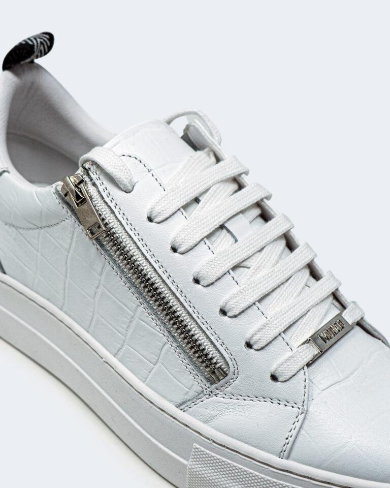 Sneakers Antony Morato ZIPPER IN PELLE STAMPA Bianco - Foto 4