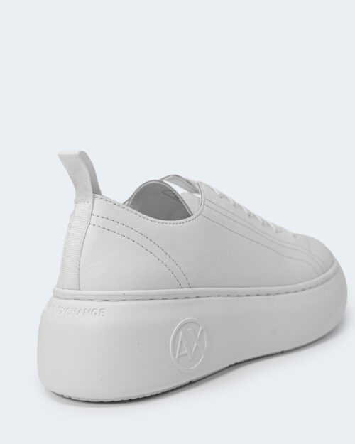 Sneakers Armani Exchange ACTION LEATHER Bianco - Foto 4