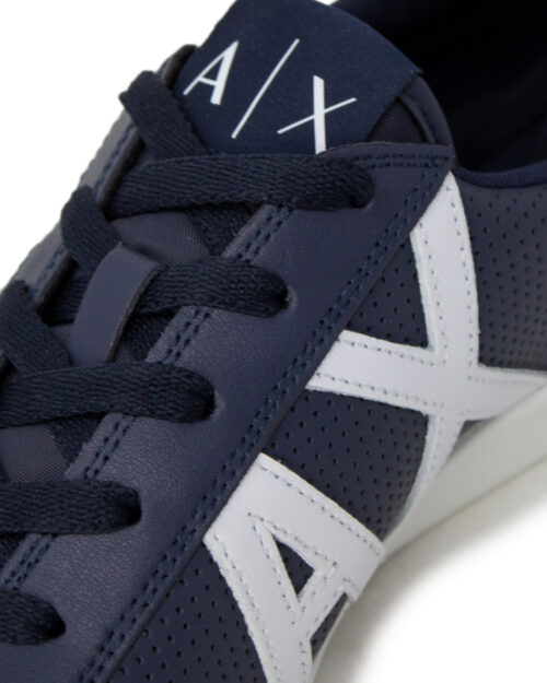 Sneakers Armani Exchange ACTION LEATHER Blu - Foto 3