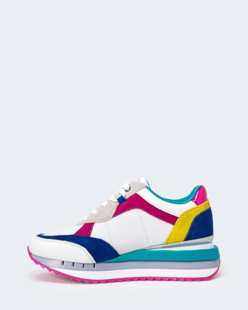 Sneakers Cafè Noir ALLACCIATA IN PELLE E TESSUTO Fuxia – 66269