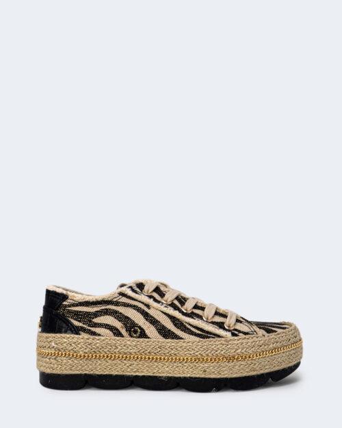 Sneakers Cafè Noir FASCIA CORDA IN CANVAS STAMPATO Nero – 66271