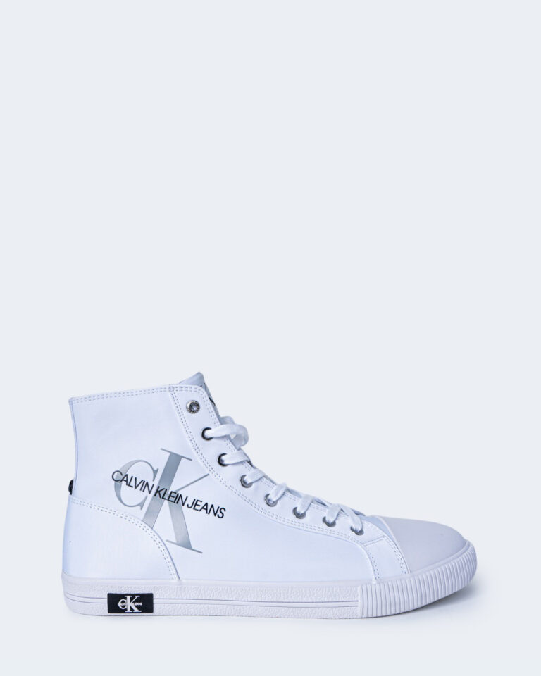 Sneakers Calvin Klein Jeans VULCANIZED HIGH LAC Bianco - Foto 1