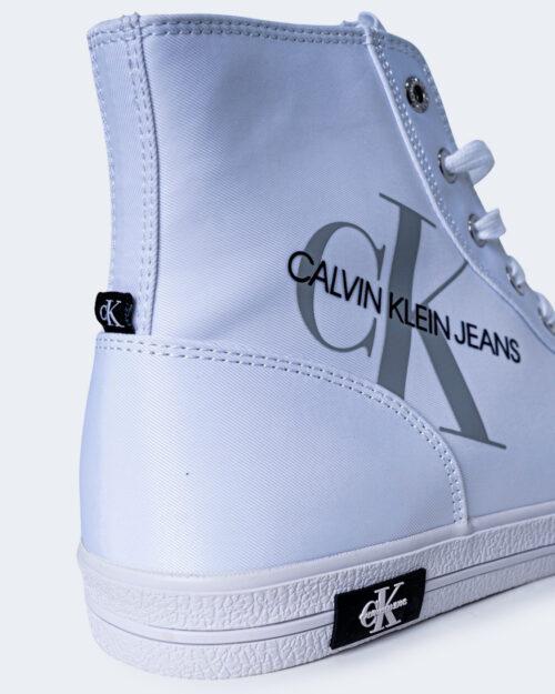 Sneakers Calvin Klein Jeans VULCANIZED HIGH LAC Bianco - Foto 3