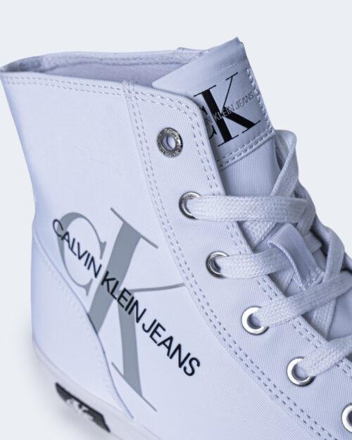 Sneakers Calvin Klein Jeans VULCANIZED HIGH LAC Bianco - Foto 4