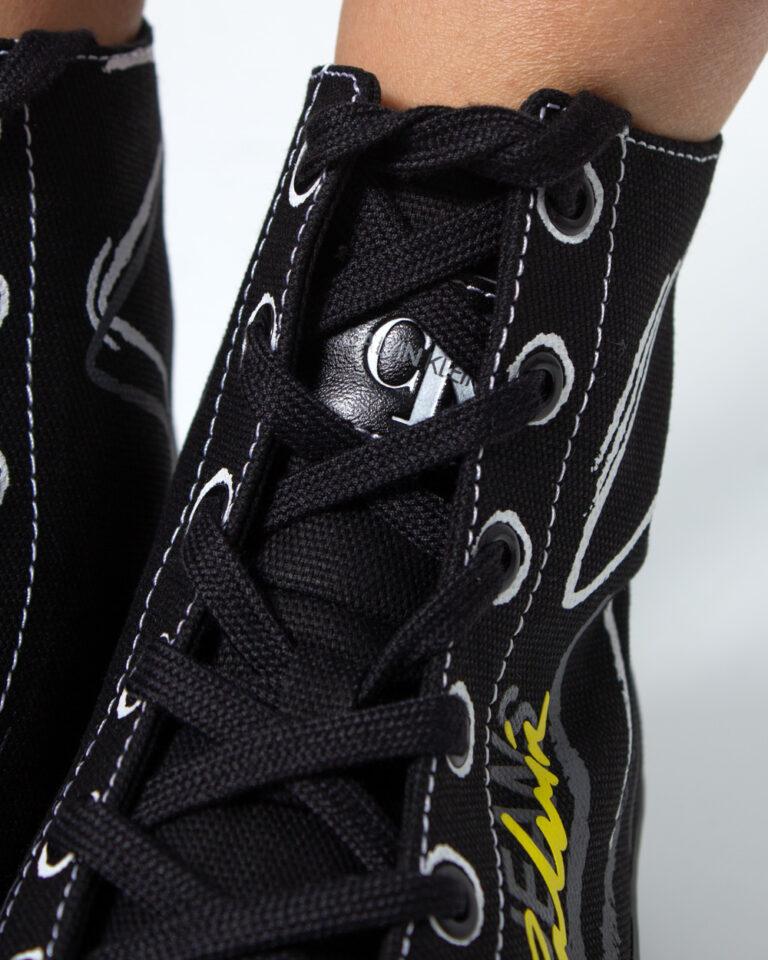 Sneakers Calvin Klein Jeans ZENIA Nero - Foto 4