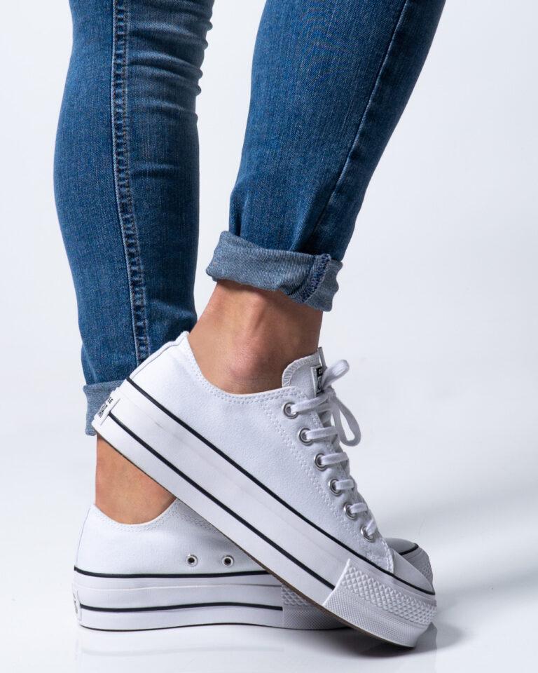 Sneakers Converse PLATFORM  BASSA Bianco - Foto 1