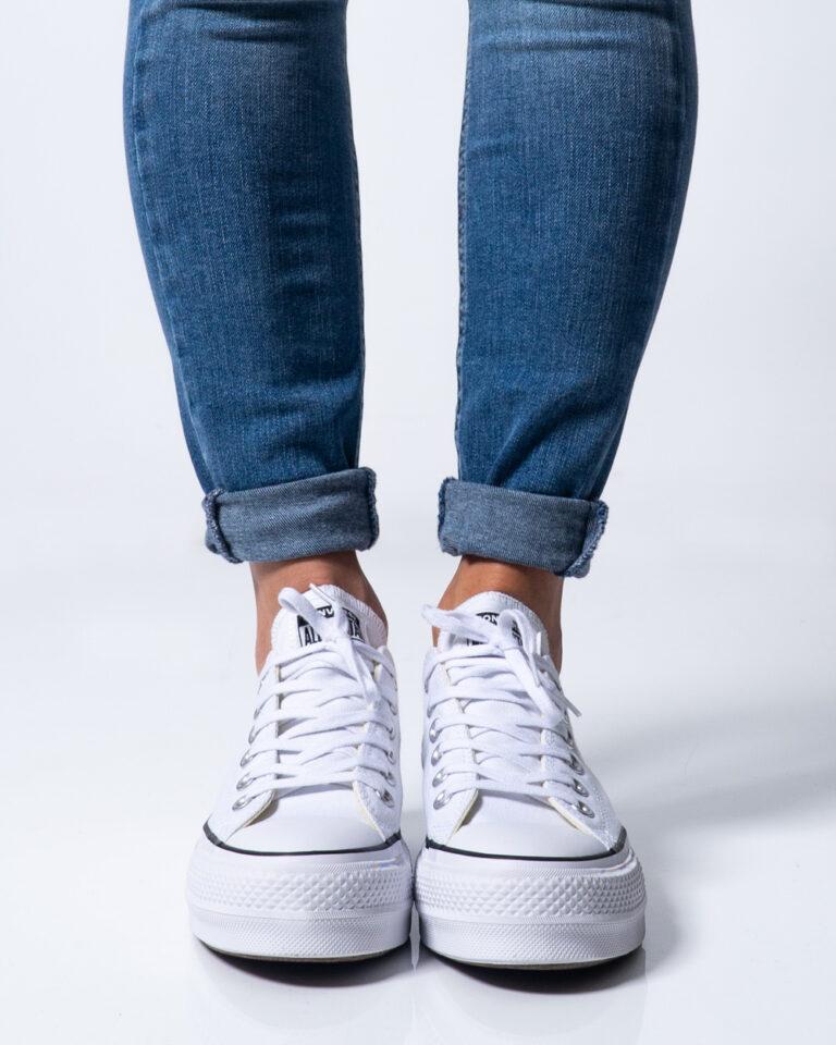 Sneakers Converse PLATFORM  BASSA Bianco - Foto 2