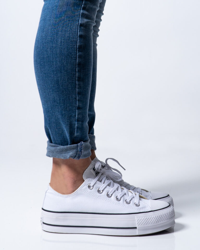 Sneakers Converse PLATFORM  BASSA Bianco - Foto 3