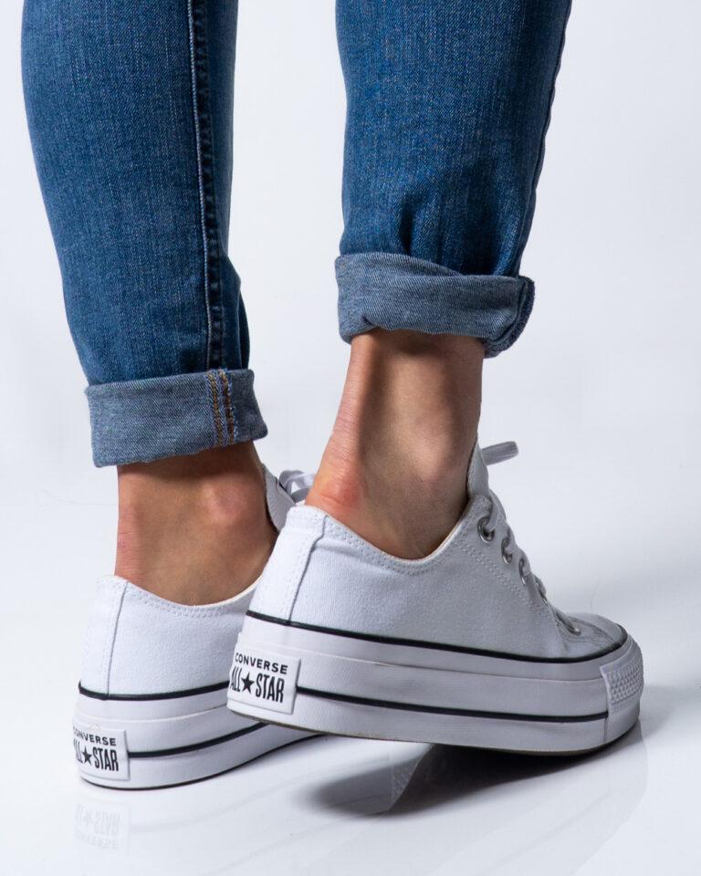 Sneakers Converse PLATFORM  BASSA Bianco - Foto 4