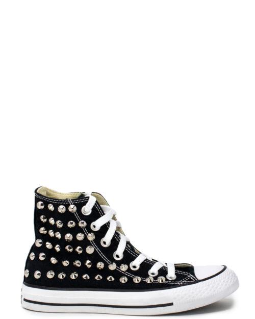 Sneakers Converse PERSONALIZZATA ALTA CON BORCHIE Nero – 28976