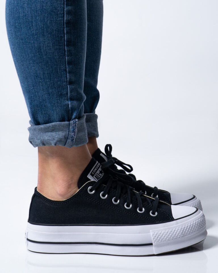 Sneakers Converse PLATFORM  BASSA Nero - Foto 1