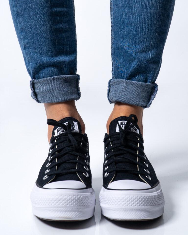 Sneakers Converse PLATFORM  BASSA Nero - Foto 2