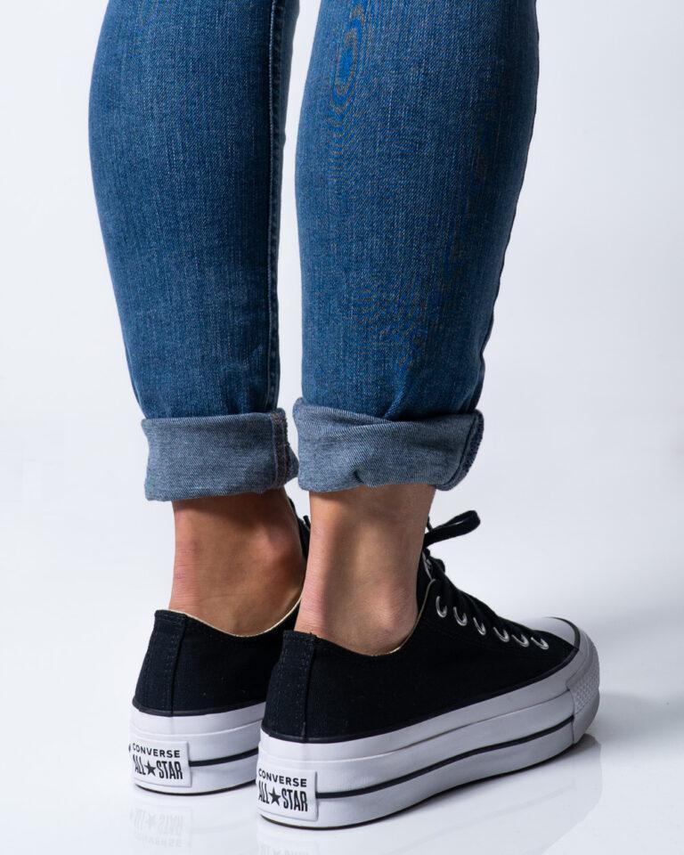 Sneakers Converse PLATFORM  BASSA Nero - Foto 3