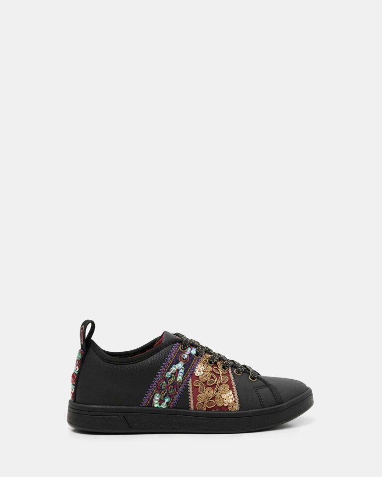 Sneakers Desigual cosmic ribbons Nero - Foto 1