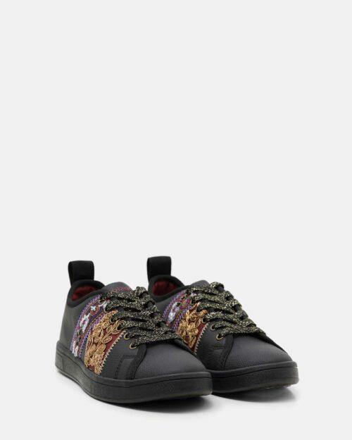 Sneakers Desigual cosmic ribbons Nero - Foto 2