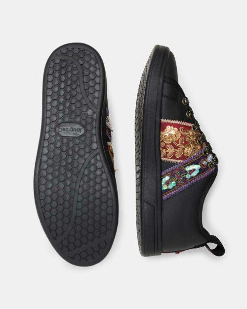 Sneakers Desigual cosmic ribbons Nero - Foto 3