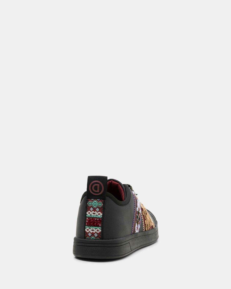 Sneakers Desigual cosmic ribbons Nero - Foto 4