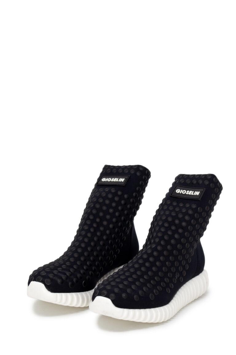 Sneakers Gioselin LIGHT STUDS BLACK CON BORCHIE Nero - Foto 1