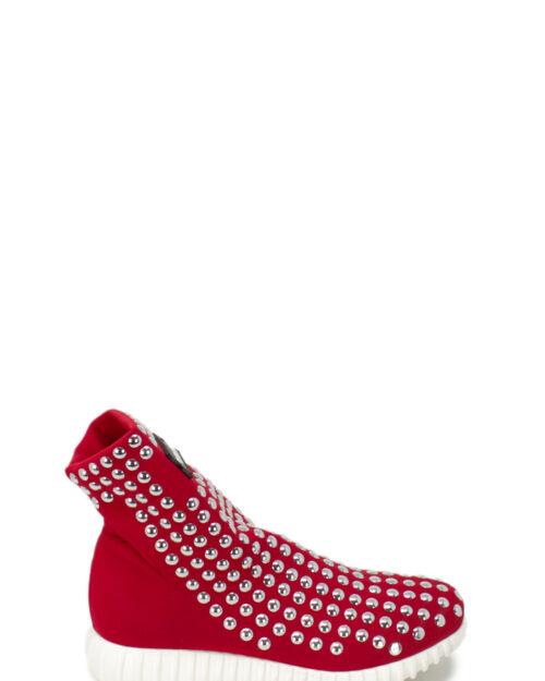 Sneakers Gioselin BORCHIE LIGHT STUDS COLOR CON BORCHIE Rosso – 22937