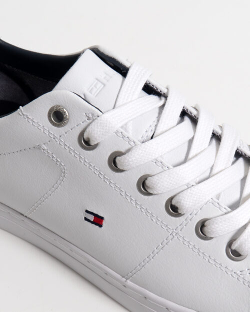 Sneakers Tommy Hilfiger Essential Leather Bianco - Foto 3