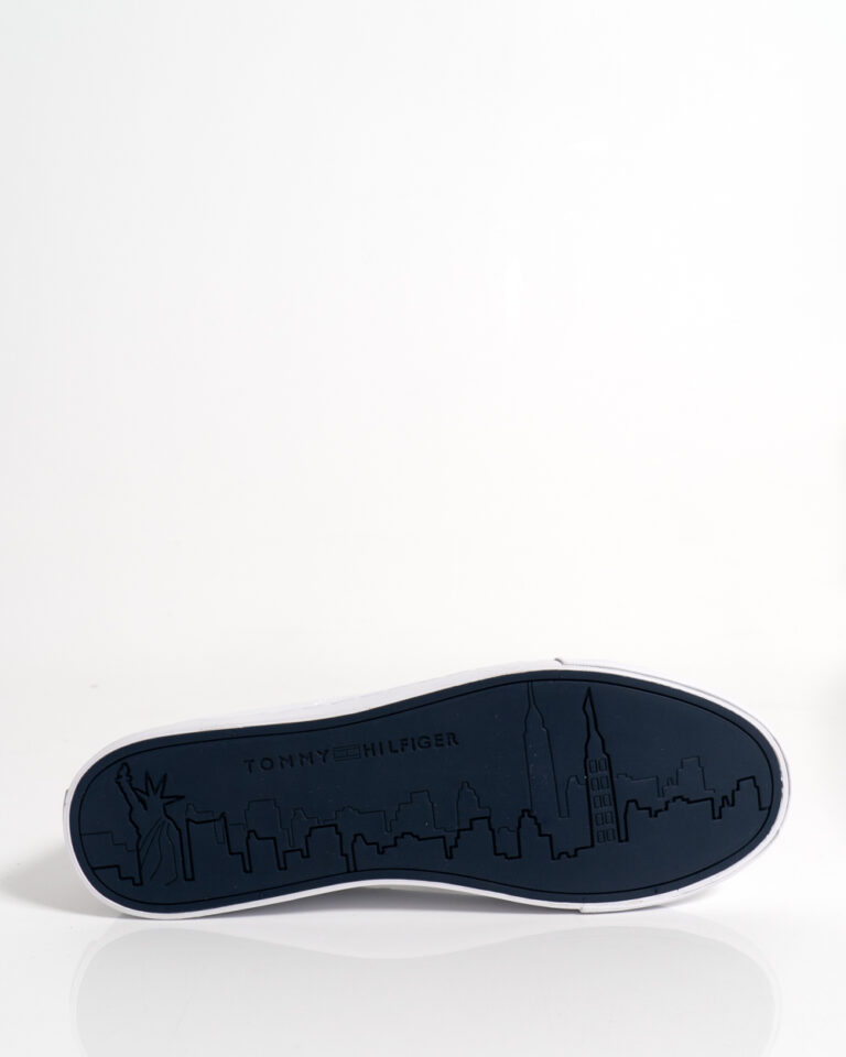 Sneakers Tommy Hilfiger Essential Leather Bianco - Foto 4