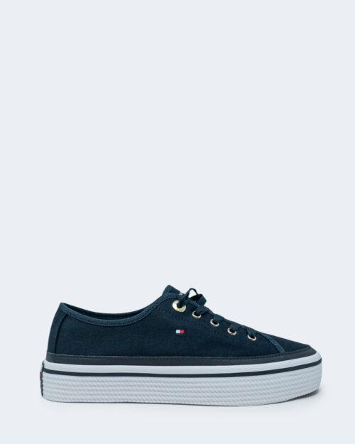 Sneakers Tommy Hilfiger Corporate Platform Blu - Foto 1
