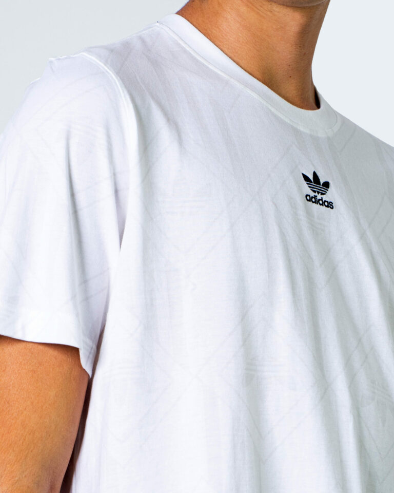 T-shirt Adidas LOGO CENTRALE BLACK Bianco - Foto 3