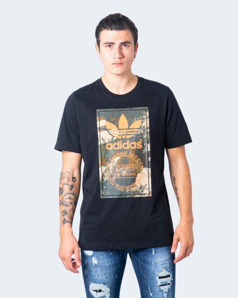 T-shirt Adidas Camo Tongue Nero - Foto 1