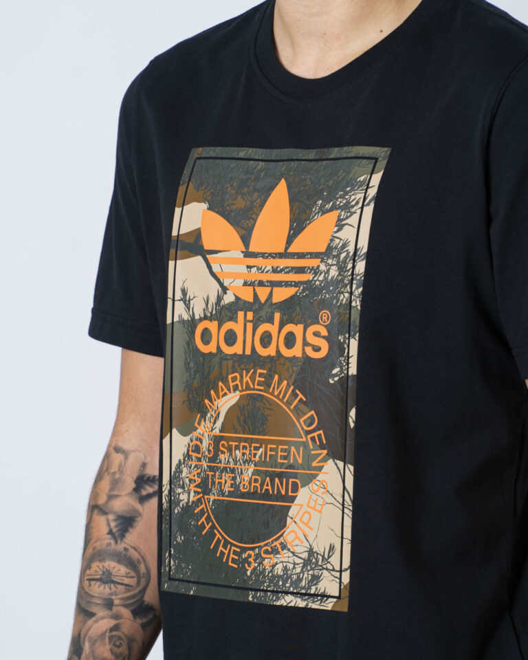 T-shirt Adidas Camo Tongue Nero - Foto 3