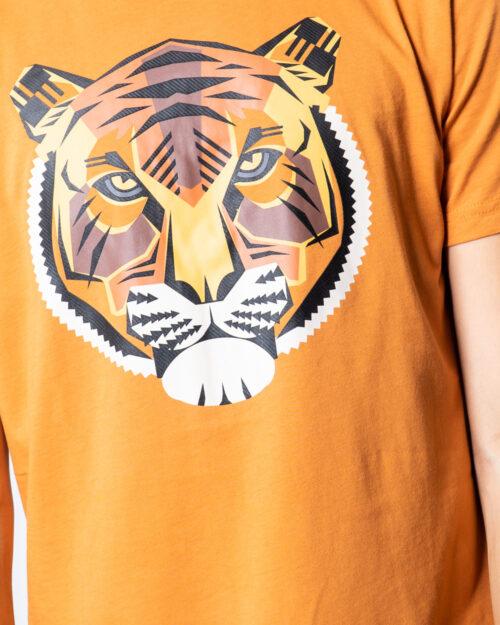 T-shirt Antony Morato REGULAR CON STAMPA TIGRE Arancione - Foto 3