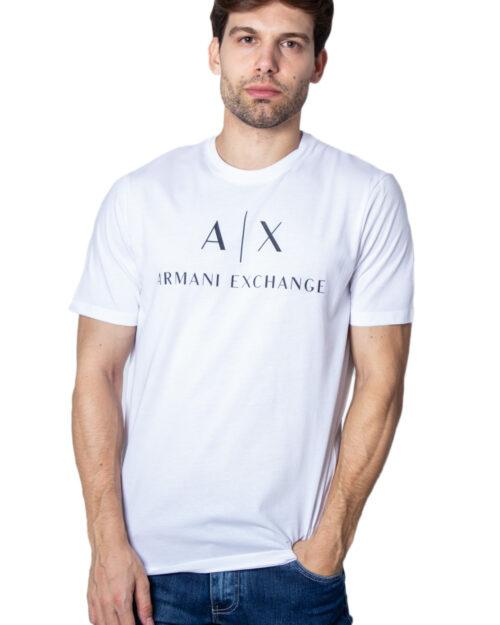 T-shirt Armani Exchange Jersey Bianco - Foto 1