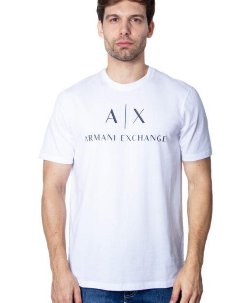 T-shirt Armani Exchange Jersey Bianco - Foto 2