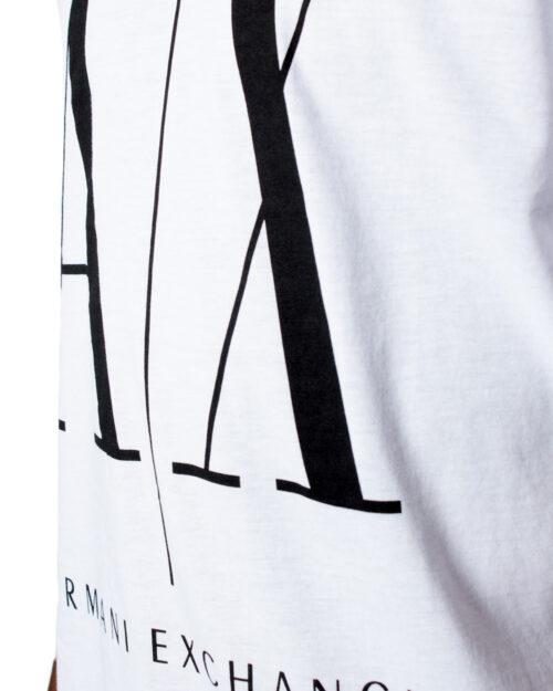 T-shirt Armani Exchange LOGO Bianco - Foto 3