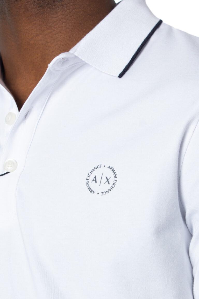 Polo manica corta Armani Exchange - Bianco - Foto 4