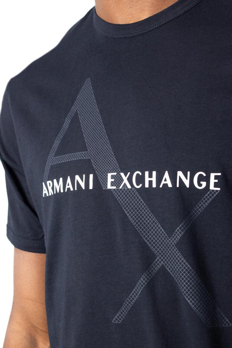 T-shirt Armani Exchange JERSEY Blu - Foto 3