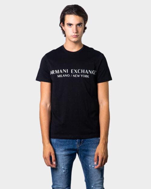 T-shirt Armani Exchange Milano/ New York Z8H4Z Nero - Foto 1