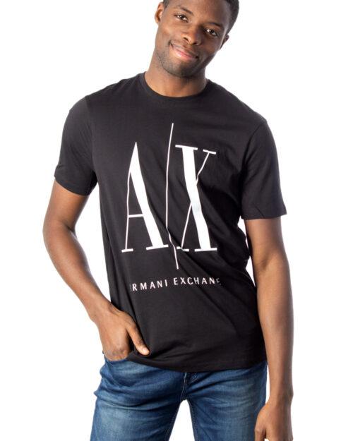 T-shirt Armani Exchange LOGO Nero - Foto 1