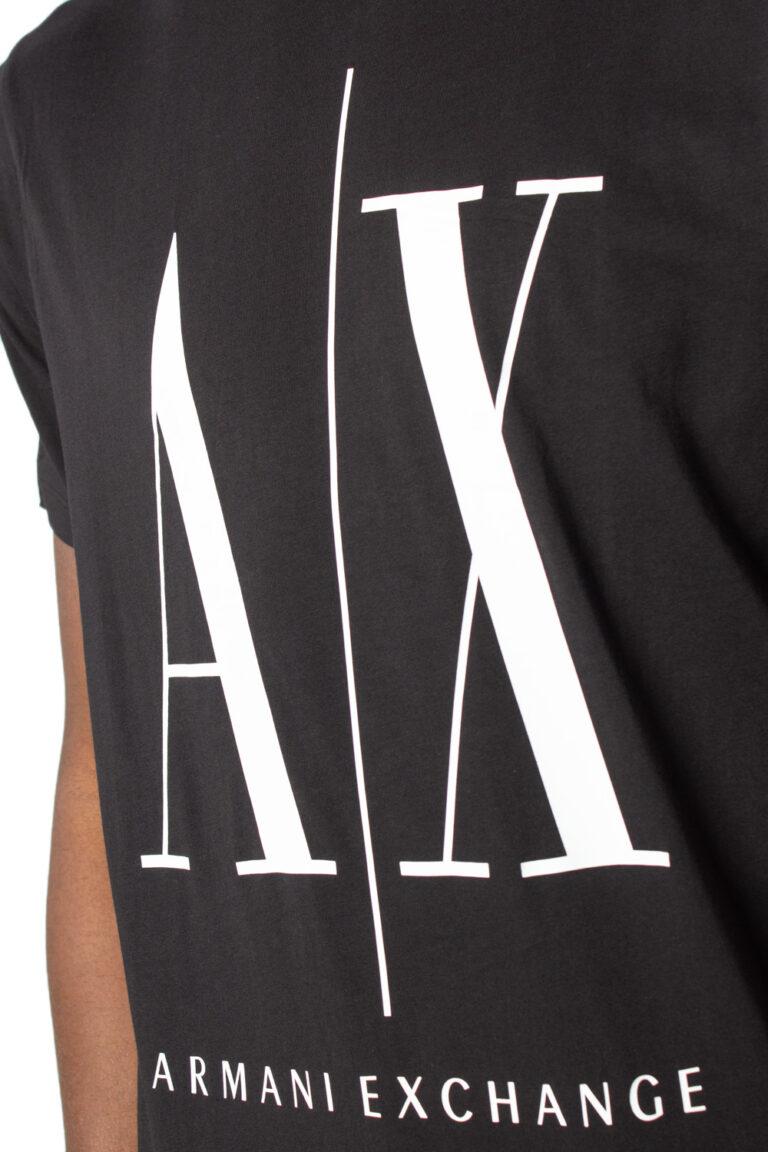 T-shirt Armani Exchange LOGO Nero - Foto 3