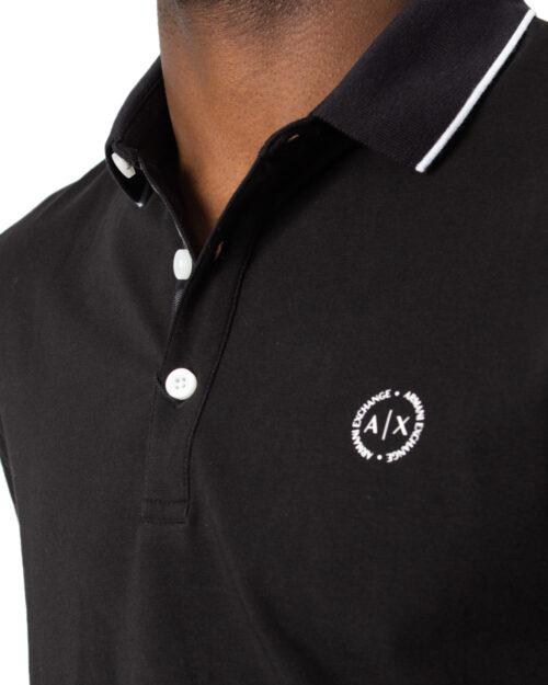 Polo manica corta Armani Exchange - Nero - Foto 3