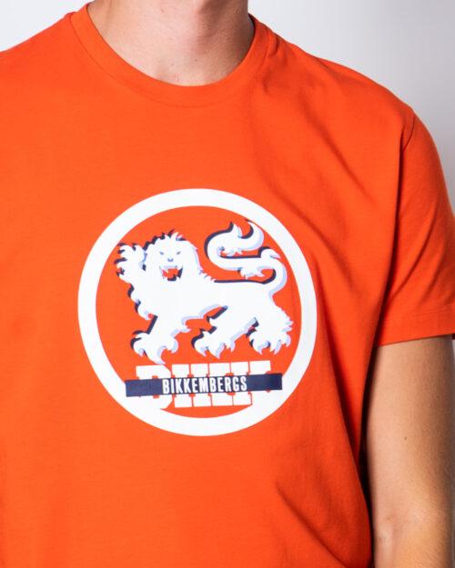 T-shirt BIKKEMBERGS LEONE Arancione - Foto 3