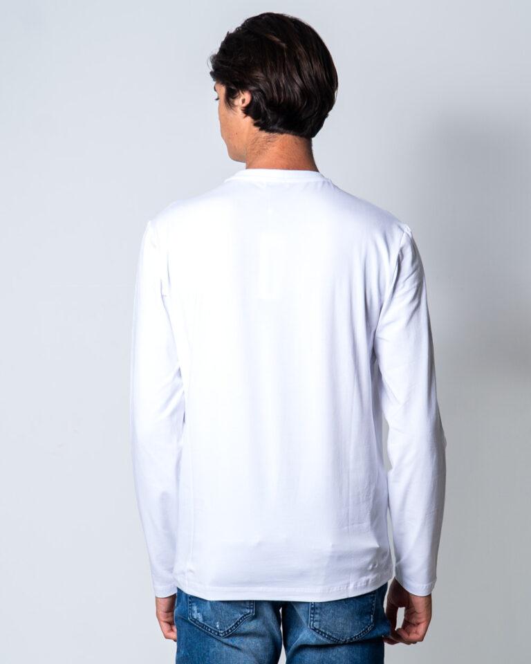 T-shirt BIKKEMBERGS STAMPA LOGO GOMMATO Bianco - Foto 2