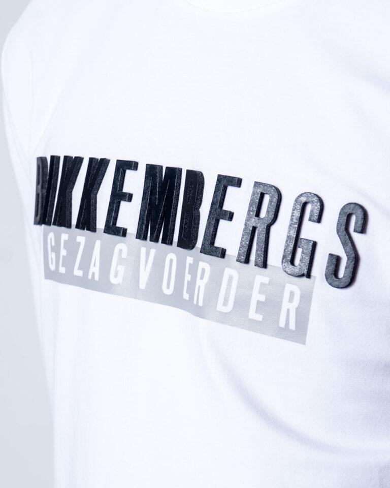 T-shirt BIKKEMBERGS STAMPA LOGO GOMMATO Bianco - Foto 3