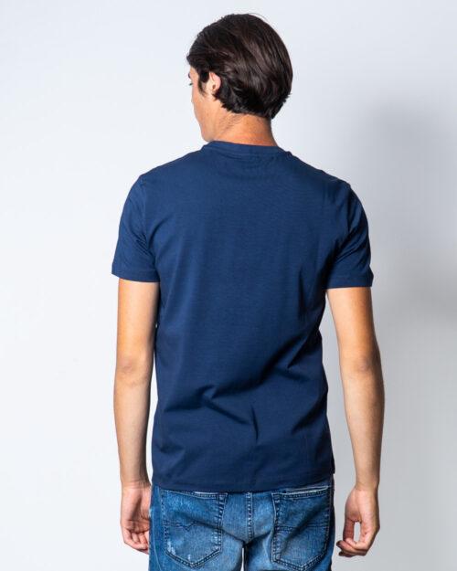 T-shirt Bikkembergs LOGO CON ONDE Blu – 51663