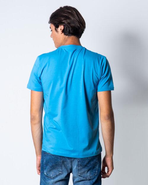 T-shirt Bikkembergs LOGO CON ONDE Celeste – 51663