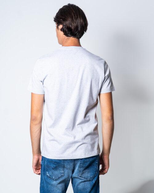 T-shirt Bikkembergs LOGO LETTERE GRANDI Grigio Chiaro – 51665