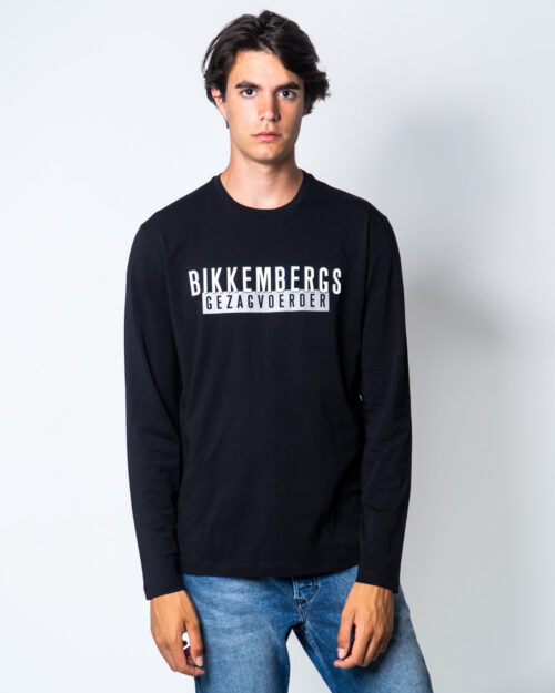 T-shirt Bikkembergs STAMPA LOGO GOMMATO Nero – 51671