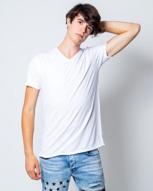 T-shirt Brian Brome TINTA UNITA COLLO V BASIC Bianco - Foto 1