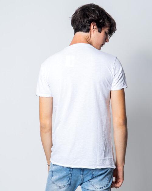 T-shirt Brian Brome TINTA UNITA COLLO V BASIC Bianco - Foto 2