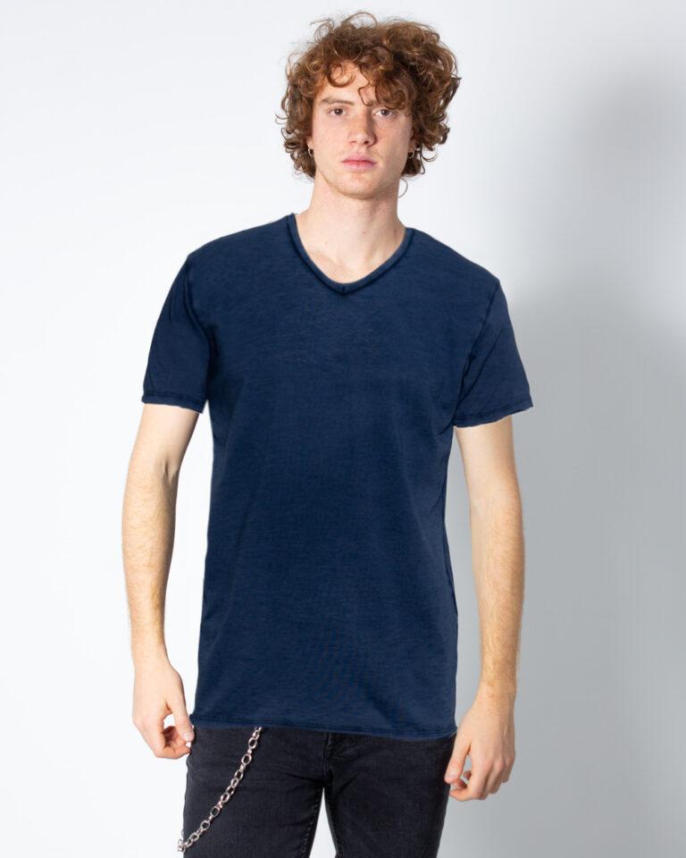 T-shirt Brian Brome TINTA UNITA COLLO V Blu - Foto 1