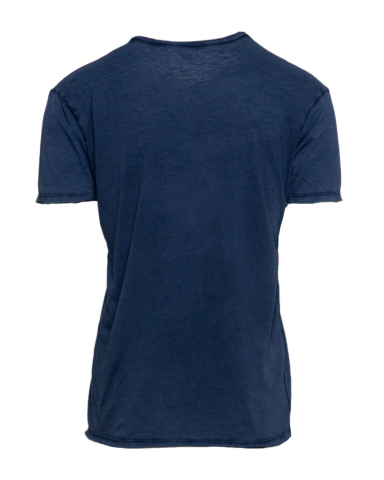 T-shirt Brian Brome TINTA UNITA COLLO V Blu - Foto 2